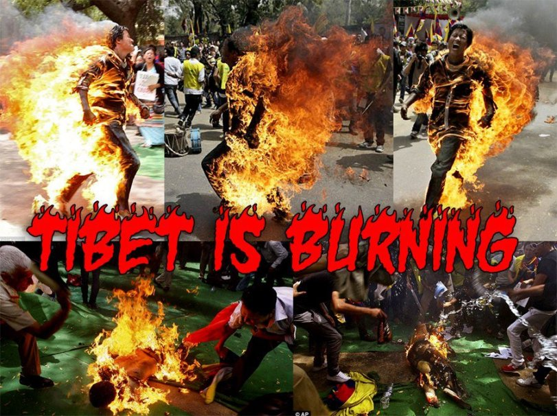 Tibet is burning
