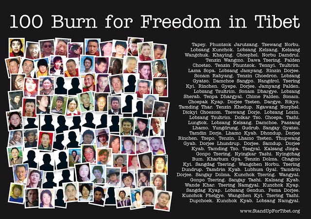 100 Burn for Freedom in Tibet